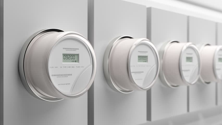 Smart electric meter on residential and commercial buildings