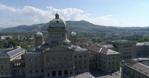 Bern Bundeshaus - Aerial 4K