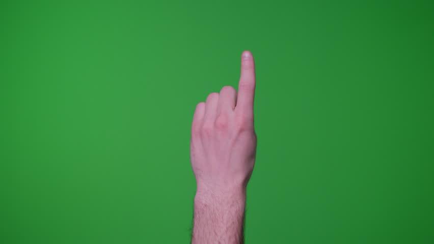Finger gestures on green screen | Shutterstock HD Video #1011001679