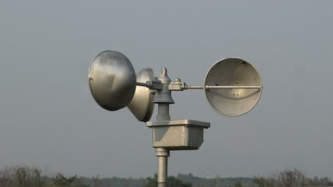 Anemometer is a device used for measuring the speed of wind at station,Thailand.
