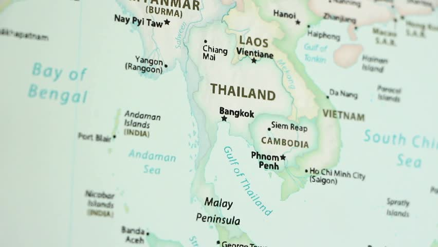 Thailand On A Political Map Stock Footage Video 100 Royalty Free