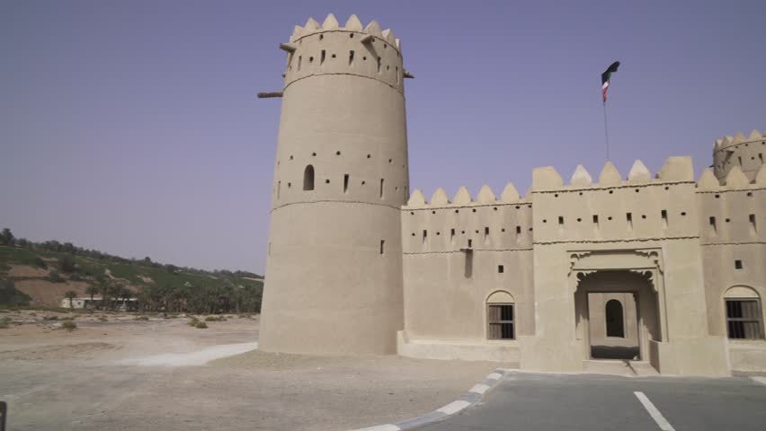 Ancient fort in the desert of Liwa United Arab Emirates stock footage video