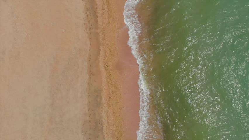 Top view of the sea beach | Shutterstock HD Video #1011199649
