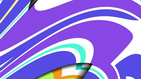 Hypnotic video pattern. Geometric loop background. Striped retro shapes. Full cycle is 6 seconds.