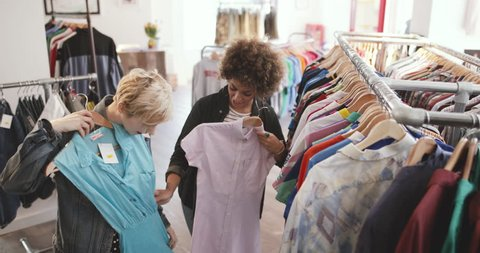f6a8e6af6c70 Thrift Shop Fashion Stock Video Footage - 4K and HD Video Clips |  Shutterstock