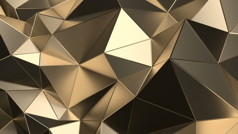 Abstract 3d rendering of geometric surface. Computer generated loop animation. Modern background with polygonal shape. Seamless motion design for poster, cover, branding, banner, placard. 4k UHD