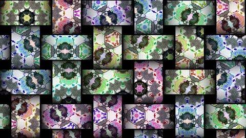 Mosaic kaleidoscopic vj seamless loop