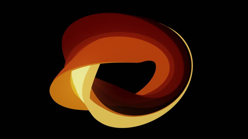 Soft colors flat 3D curved fire donut candy seamless loop abstract shape animation background new quality universal motion dynamic animated colorful joyful video footage