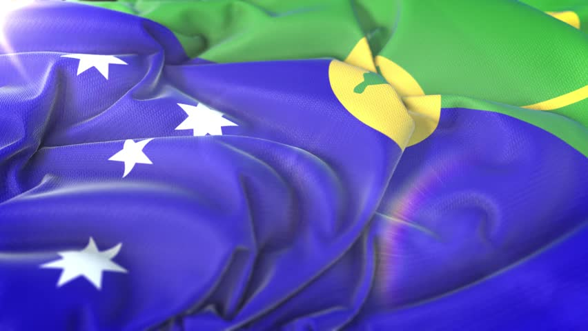 Christmas Island Flag.Christmas Island Flag Flag Of Christmas Stock Footage Video 100 Royalty Free 1011362219 Shutterstock