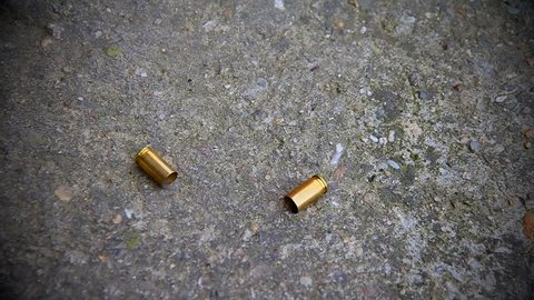 Bullet Shells Fall. They roll on the floor
