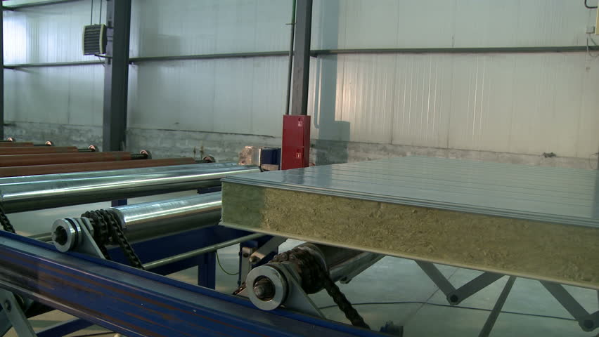 Sandwich Panel Manufacturing Plant View Stock Footage Video (100%  Royalty-free) 1011429209 | Shutterstock