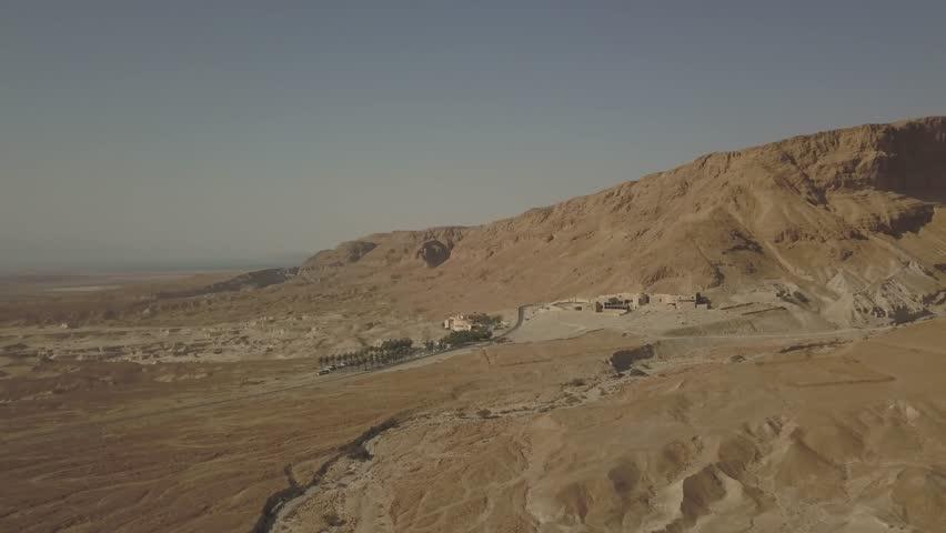 Dead sea desert 4k aerial view ungraded flat | Shutterstock HD Video #1011483149