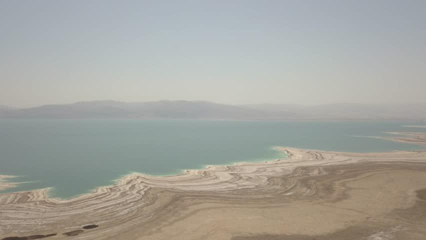 Dead sea desert 4k aerial view ungraded flat | Shutterstock HD Video #1011483209