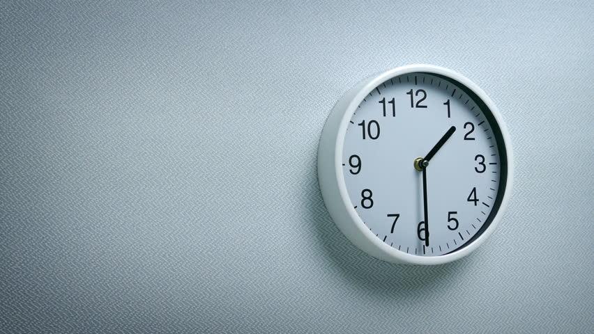 1.30 Clock On Wall   Shutterstock HD Video #1011494639