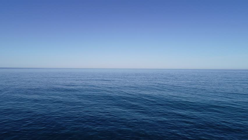 Infinite blue sea aerial