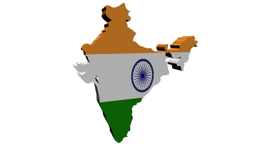 India Map Flag.India Map Flag With Container Stock Footage Video 100 Royalty Free