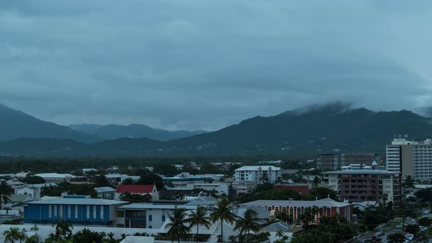 Timelapse shot of storm in Cairns, Australia | Shutterstock HD Video #1011694499