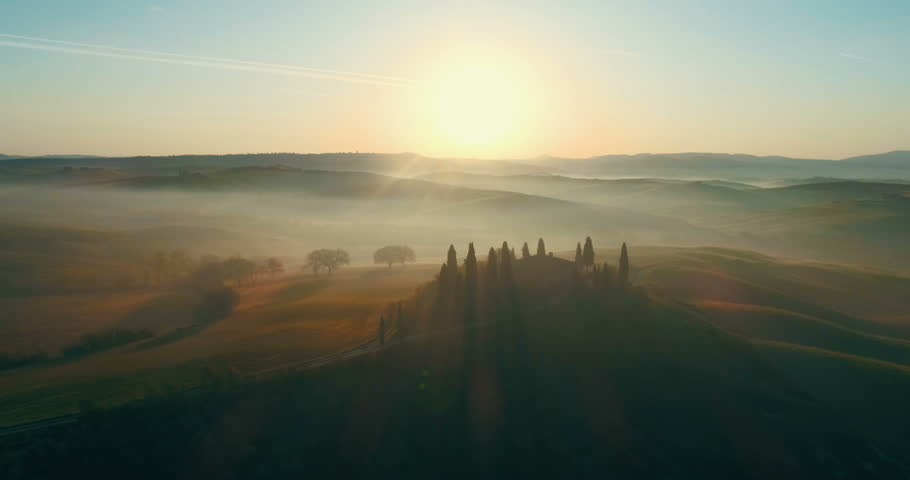 Beautiful landscape in Tuscany, Italy. | Shutterstock HD Video #1011709319