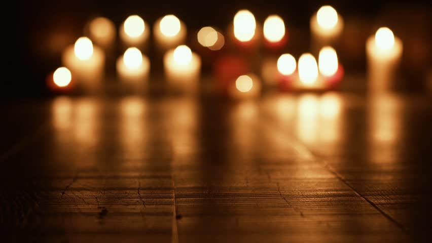 Holy candles burning in the Church: religion and spirituality concept