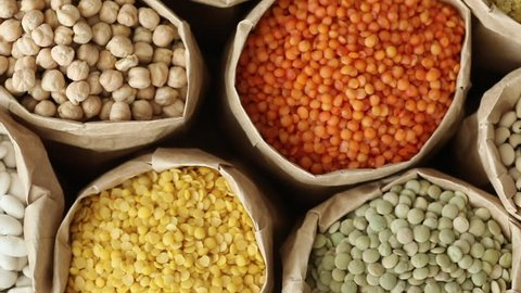 Various dried legumes