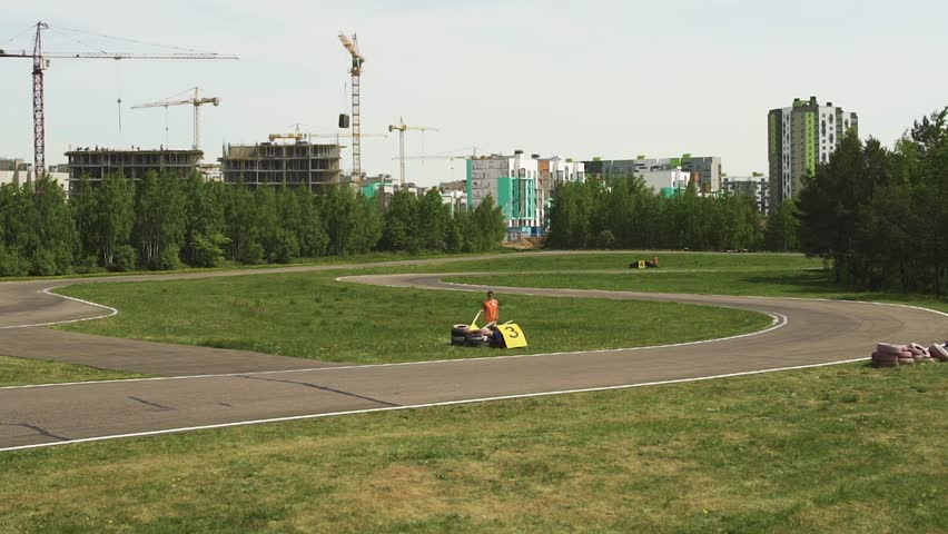 go-kart on race turn