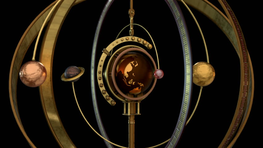 3D STEAMPUNK Solar System TRANSITION. Ideal 3D model animation for Science fiction movies, TV shows, intro, news, commercials, retro, fantasy, steampunk related projects etc. Includes ALPHA MATTE.