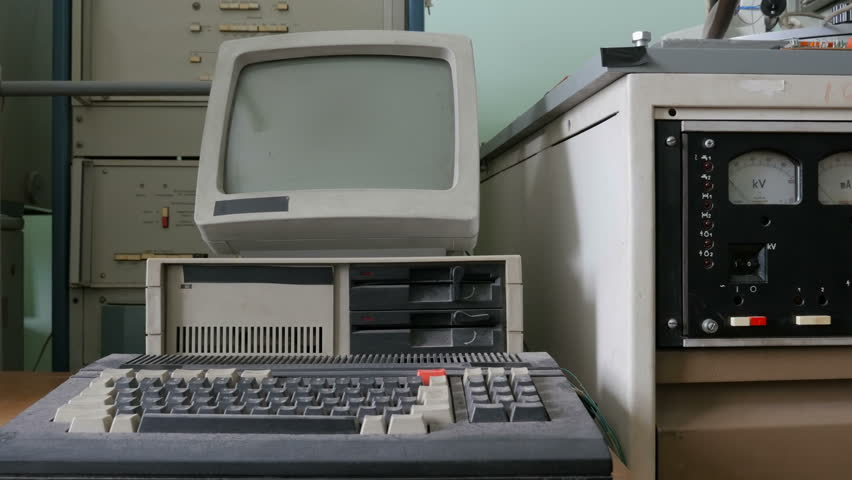The retro pc computing machine  | Shutterstock HD Video #1012025579