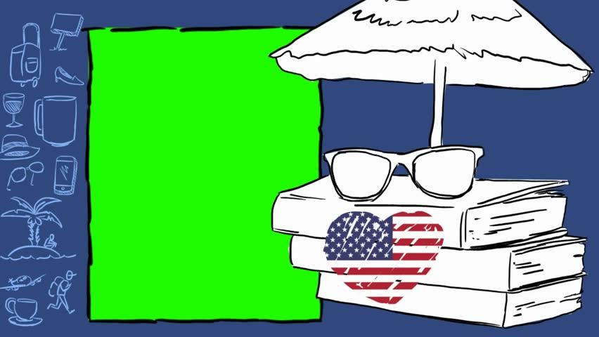 USA  hand drawn tourism | Shutterstock HD Video #1012042529