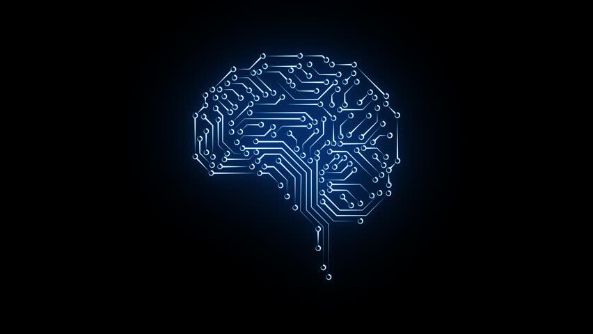 Digital brain and CPU. Digital neurons network. Brain energy pulsing | Shutterstock HD Video #1012083599