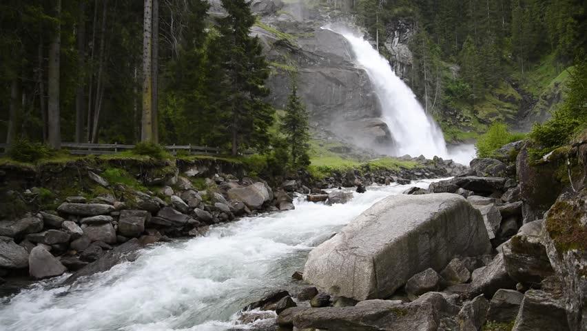 Krimml Waterfalls in High Tauern National Park , Austria.