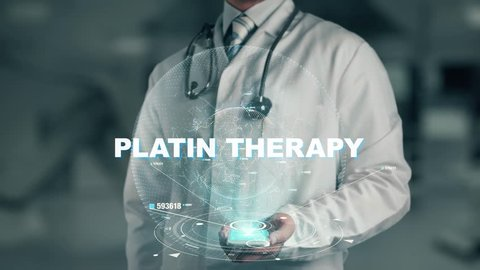 Doctor holding in hand Platin Therapy