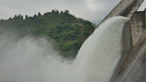 Dam Release Water barrage