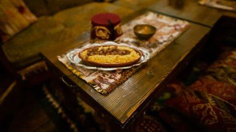 Traditional dish in a Tatar-Turkish restaurant