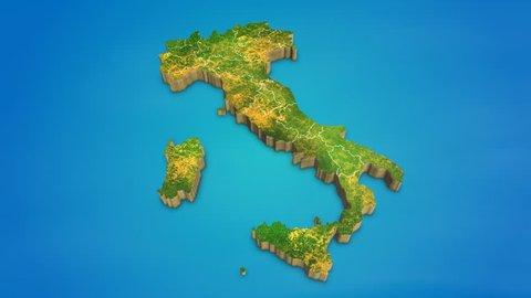 Mapa Politico De Italia Stock Video Footage 4k And Hd Video