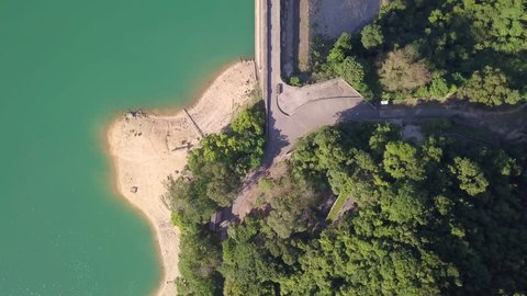 Reservoir in Hong Kong - Shing Mun Reservoir. One of the most renowned reservoir in Hong Kong considering its landscape and roads for hiking