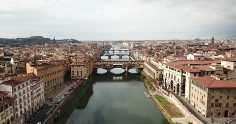 Over the river and vecchio bridge