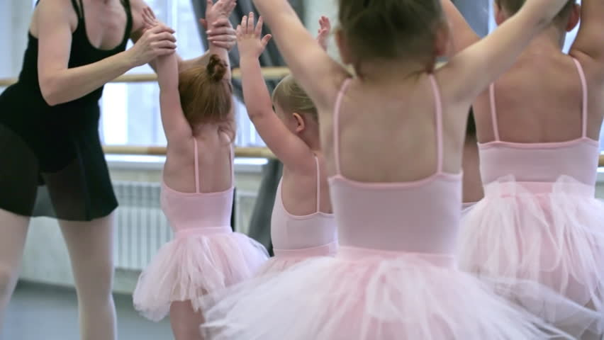 8e9dd5729eba Group of Little Girls in Stock Footage Video (100% Royalty-free ...