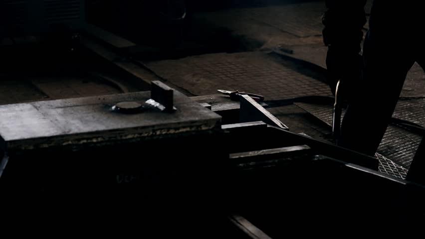 Welder weld metall | Shutterstock HD Video #1012365179