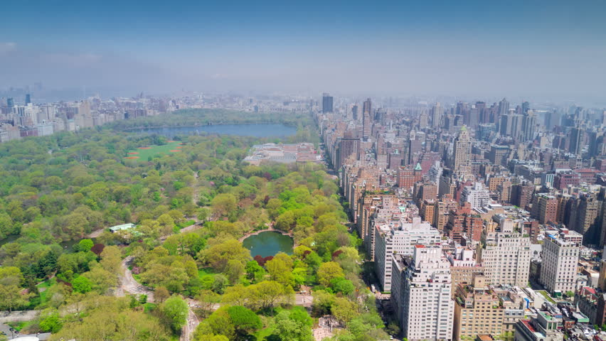 Aerial timelapse dronelapse view of Central Park, Upper East and West Side Manhattan and Midtown Manhattan, New York, USA | Shutterstock HD Video #1012402289