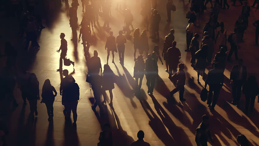 Large crowd of busy pedestrians moving hectically in urban environment | Shutterstock HD Video #1012544159