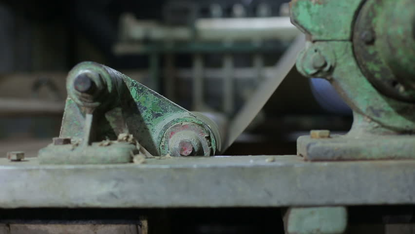 Old Paper Mill Conveyor Stock Footage Video (100% Royalty-free) 1012580429  | Shutterstock