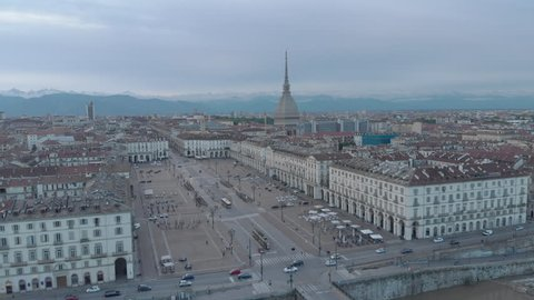 Aerial view of Turin, Italy