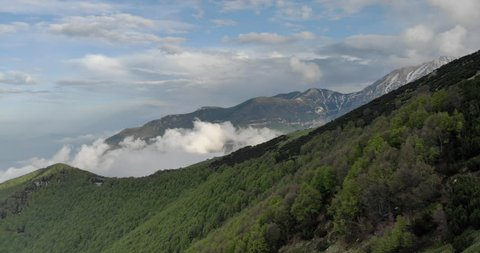 aerial view of Majella mountain, Abruzzo, Italy