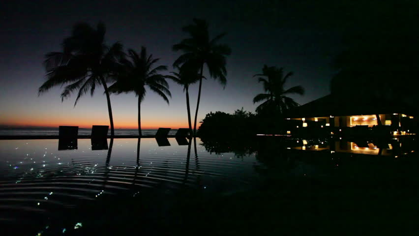 tropical scenery at night