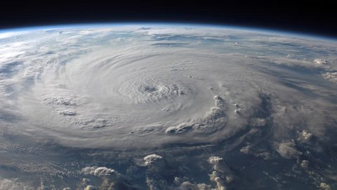 4K NASA Cinemagraph Collection - Hurricane Felix. Seamless loop. (Elements furnished by NASA)