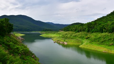 4K time lapse video at Mae Kuang Udom Thara dam, Thailand.