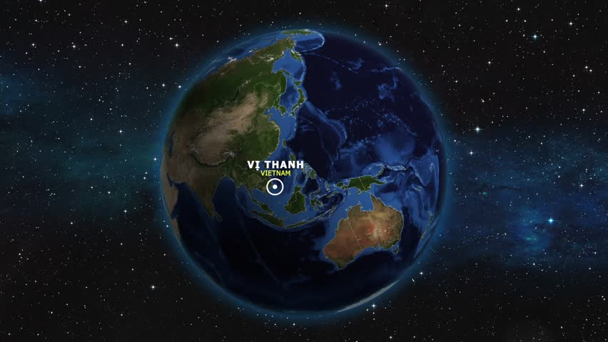 VIETNAM VI THANH ZOOM IN FROM SPACE | Shutterstock HD Video #1012726559
