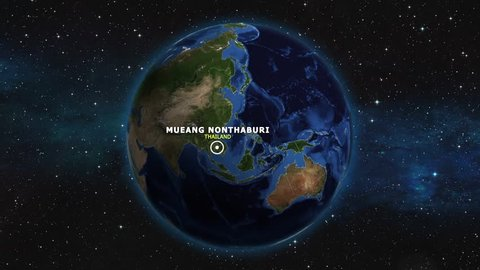 THAILAND MUEANG NONTHABURI ZOOM IN FROM SPACE