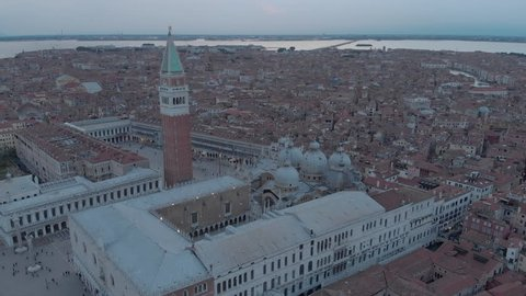 aerial view of Venice: Italy