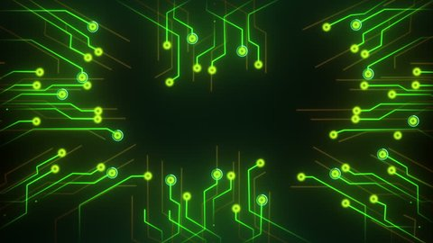 Digital motherboard and CPU. Digital grid. Energy waves. CPU Processing. Digital network. Computing. GPU gaming. Web, internet
